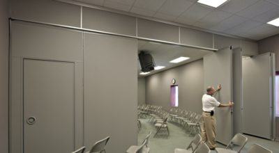 San Antonio church folding wall san antonio church operable partition san antonio church airwall